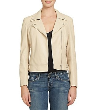 1. STATE Faux-Leather Front Zip Moto Jacket