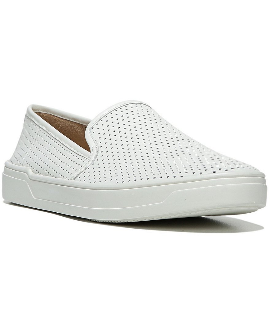 Via Spiga Galea 5 Perforated Leather Slip On Sneakers