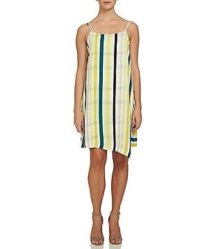 1. STATE Striped Spaghetti Strap Slip Dress