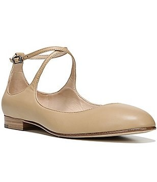 Via Spiga Yovela Criss-Cross Strap Leather Flats