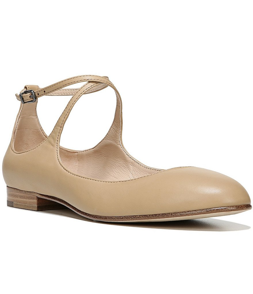 Via Spiga Yovela Criss Crossing Straps Leather Flats