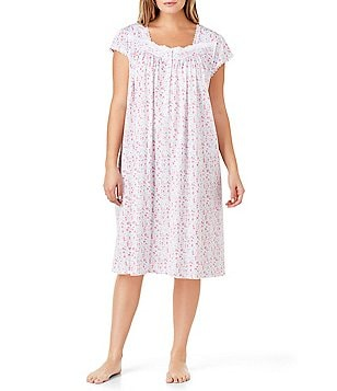 Eileen West Plus Floral Waltz Nightgown