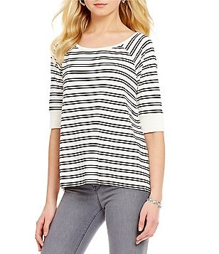Sanctuary Capitol Flirt Remix Striped Top