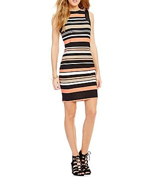 Honey and Rosie Multi Striped Sheath Dress