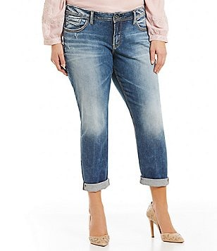 Silver Jeans Co. Plus Sam Boyfriend Jean