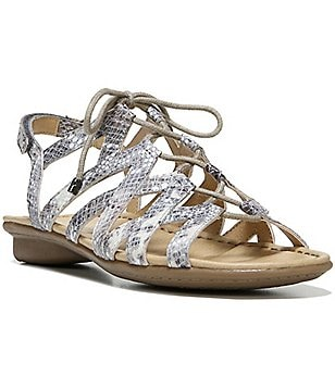 Naturalizer Whimsy Metallic Ghillie Lace-Up Multi Strap Sandal