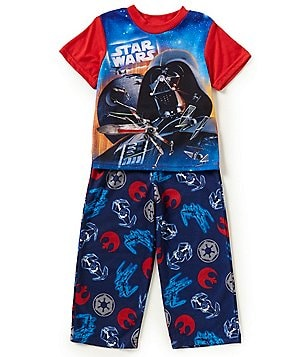 AME Star Wars Little/Big Boys 4-10 Color Block Shirt & Printed Pants Pajama Set