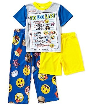 AME Emoji Little/Big Boys 4-10 To Do List 3-Piece Pajama Set