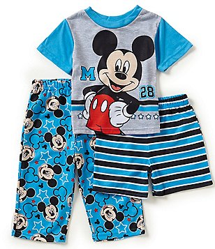 AME Mickey Mouse Little Boys 2T-4T 3-Piece Pajama Set