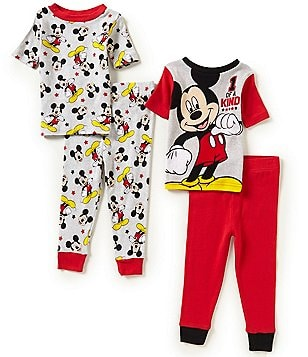 AME Mickey Mouse 1 of a Kind Little Boys 2T-4T One of a Kind 4-Piece Pajama Set