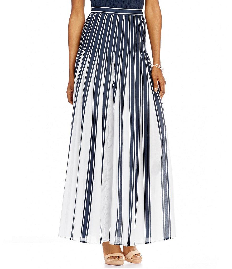 pendleton pleated stripe maxi a line skirt dillards