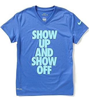 Nike Big Girls 7-16 Dri-FIT Show Up and Show Off Tee