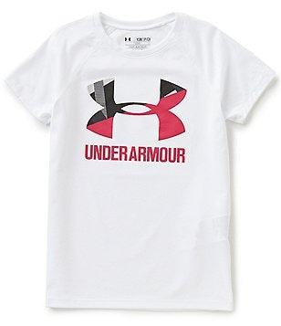 Under Armour Big Girls 7-16 Big Logo Short-Sleeve Tee