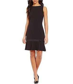 KARL LAGERFELD PARIS Sleeveless Flounce Hem Dress