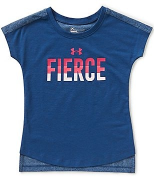 Under Armour Little Girls 2T-6X Colorblock Fierce Tee