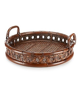 Southern Living Open-Weave Rattan Tray