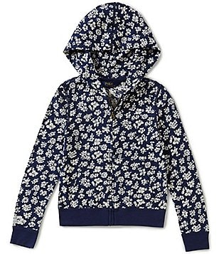 Ralph Lauren Childrenswear Little Girls 4-6X Retro-Floral-Print Hoodie