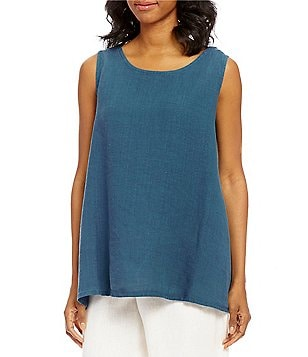 Bryn Walker Sleeveless Linen Long Trapeze Tank