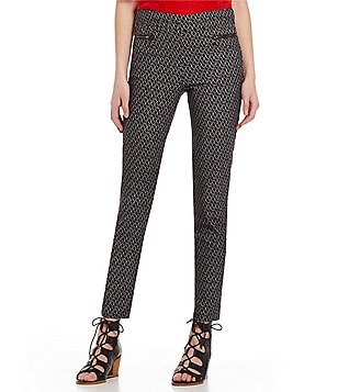Takara Printed Pull-On Zip-Pocket Pants