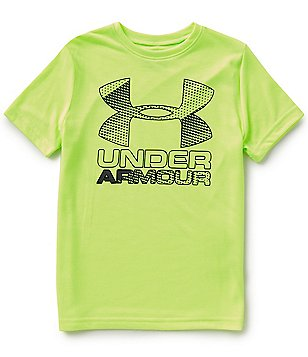 Under Armour Big Boys 8-20 Short-Sleeve Big Logo Hybrid 2.0 Tee