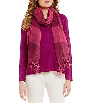 Eileen Fisher Handloomed Organic Cotton Linen Scarf