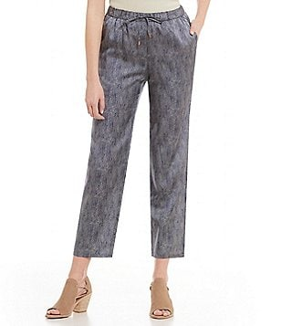 Eileen Fisher Tapered Ankle Drawstring Waist Pants