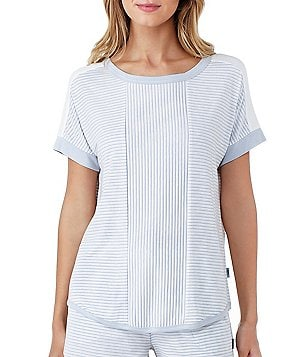 DKNY Striped Jersey Sleep Top