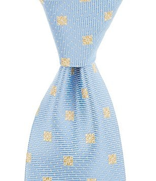 Brooks Brothers Floral Mini Dot Traditional Silk Tie