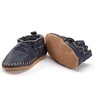 Robeez Newborn-24 Months Faux-Leather Moccasin Shoes