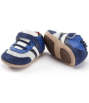 Robeez Baby Boys 3-24 Months Color Block Faux-Leather and Suede Shoes