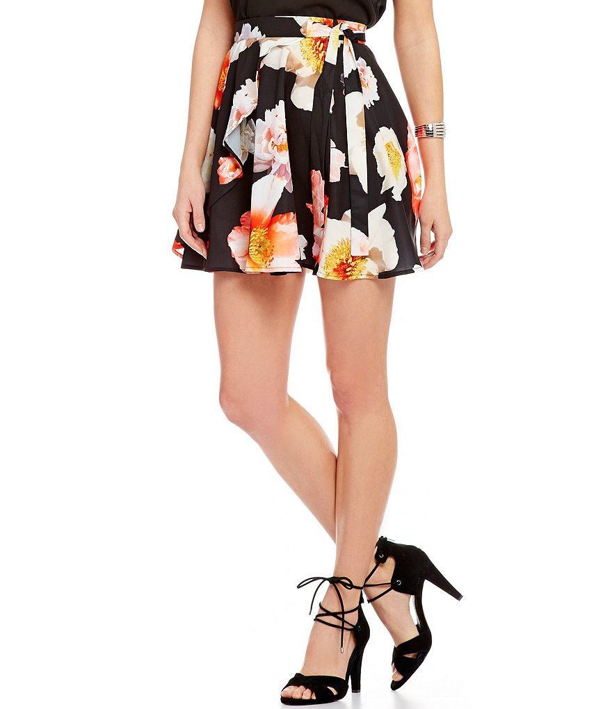 GB Floral Tie Wrap Skirt