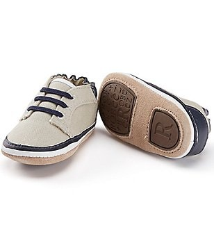 Robeez Baby Boys 3-24 Months Canvas Faux-Lace Shoes