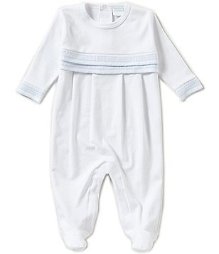 Edgehill Collection Newborn-6 Months Stitching Detail Long-Sleeve Coverall