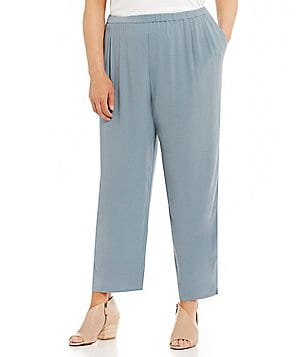 Eileen Fisher Plus Straight Leg Ankle Pants