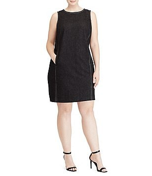 Lauren Ralph Lauren Denim Sleeveless Shift Dress