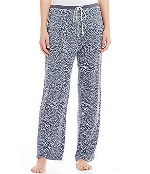 DKNY Plus Spotted Jersey Sleep Pants