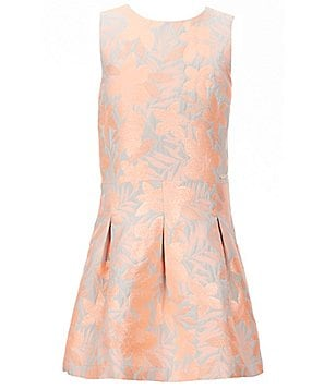 Marciano Big Girls 7-16 Floral Metallic Brocade Dress