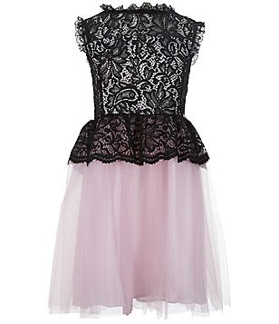 Marciano Big Girls 7-16 Lace-Tulle Skater Dress