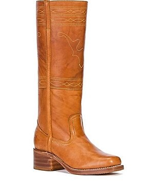 Frye Campus Stitching Horse Leather Stitching Detail Tall Boots