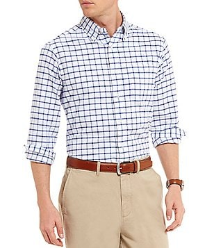 Cremieux Gingham Lightweight Washed Oxford Long-Sleeve Woven Shirt