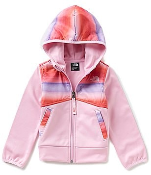 The North Face Little Girls 2T-4T Ombré Stripe Kickin It Hoodie
