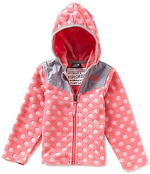 The North Face Little Girls 2T-4T Lottie Dottie Polka Dot Burnout Fleece Hoodie Jacket