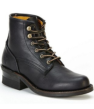 Frye Engineer Lace-Up Vintage Leather Boots
