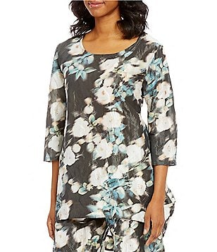 Bryn Walker Amis Round Neck 3/4 Sleeve Printed Tunic