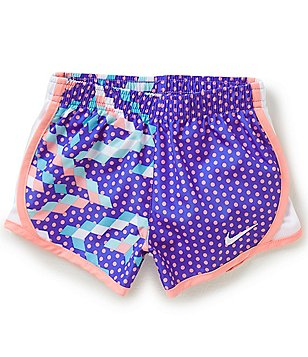 Nike Little Girls 2T-6X Dri-FIT Printed Tempo Shorts
