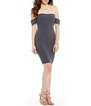 Mystic Off-The-Shoulder Sheath Dress