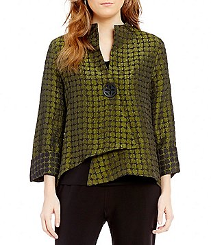 IC Collection Asymmetric One-Button Jacket