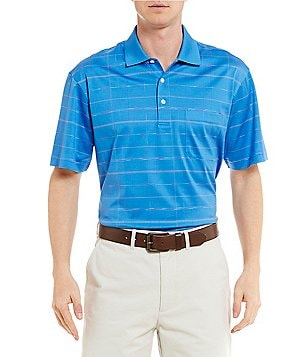 Daniel Cremieux Signature Triple Mercerized Windowpane Short-Sleeve Polo Shirt