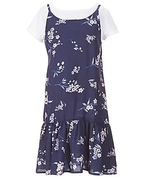 Copper Key Big Girls 7-16 Floral 2-Fer Slip Dress