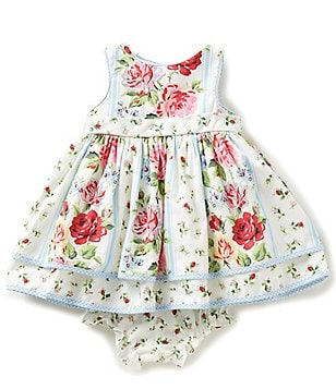 Laura Ashley London Baby Girls 3-9 Months Floral-Print Dress